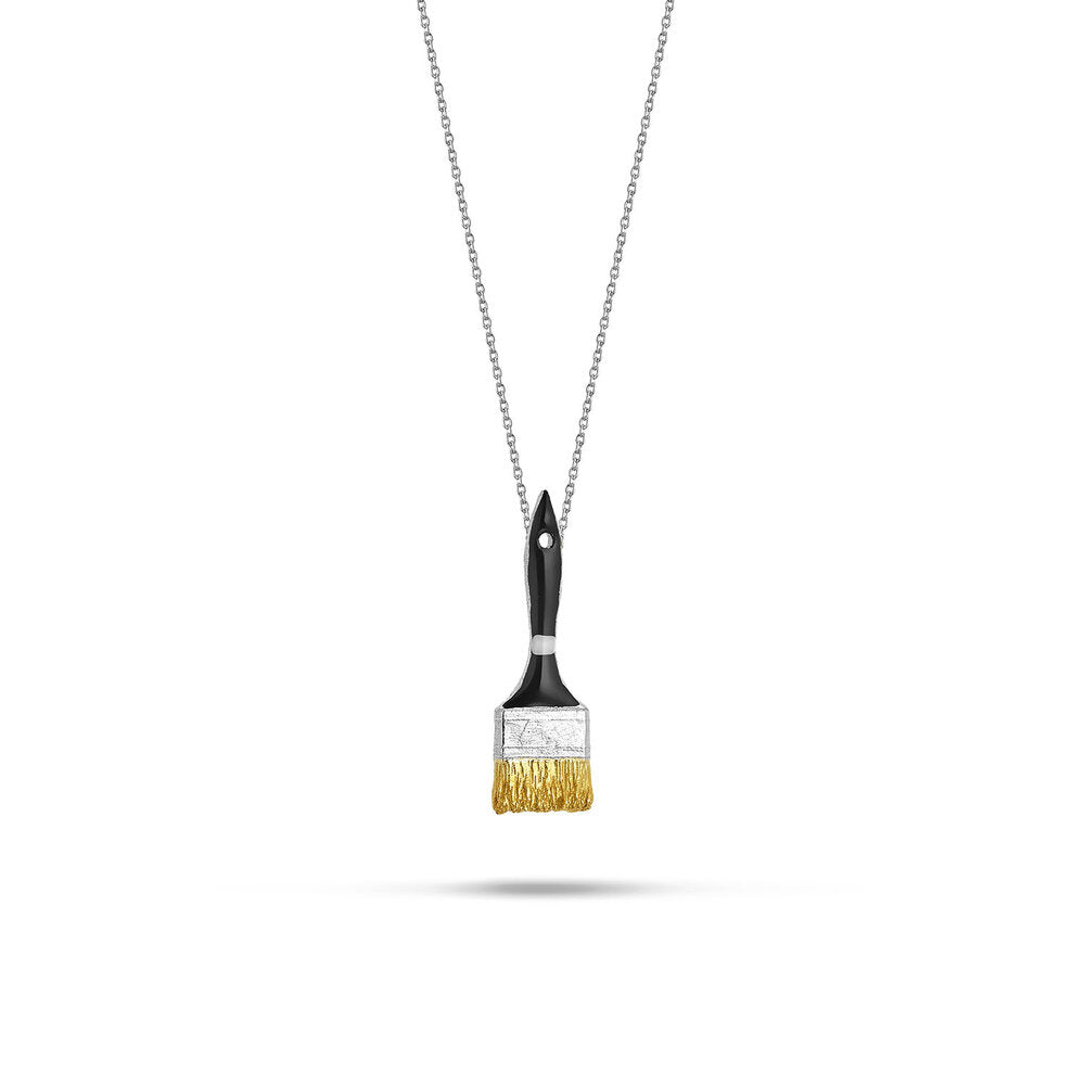 "Silver Necklace ""Brush II"""