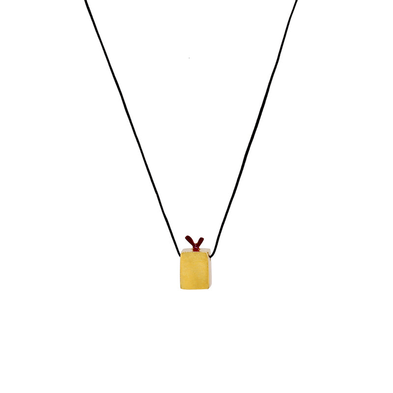 "Gold-plated Pendant ""Cube"""