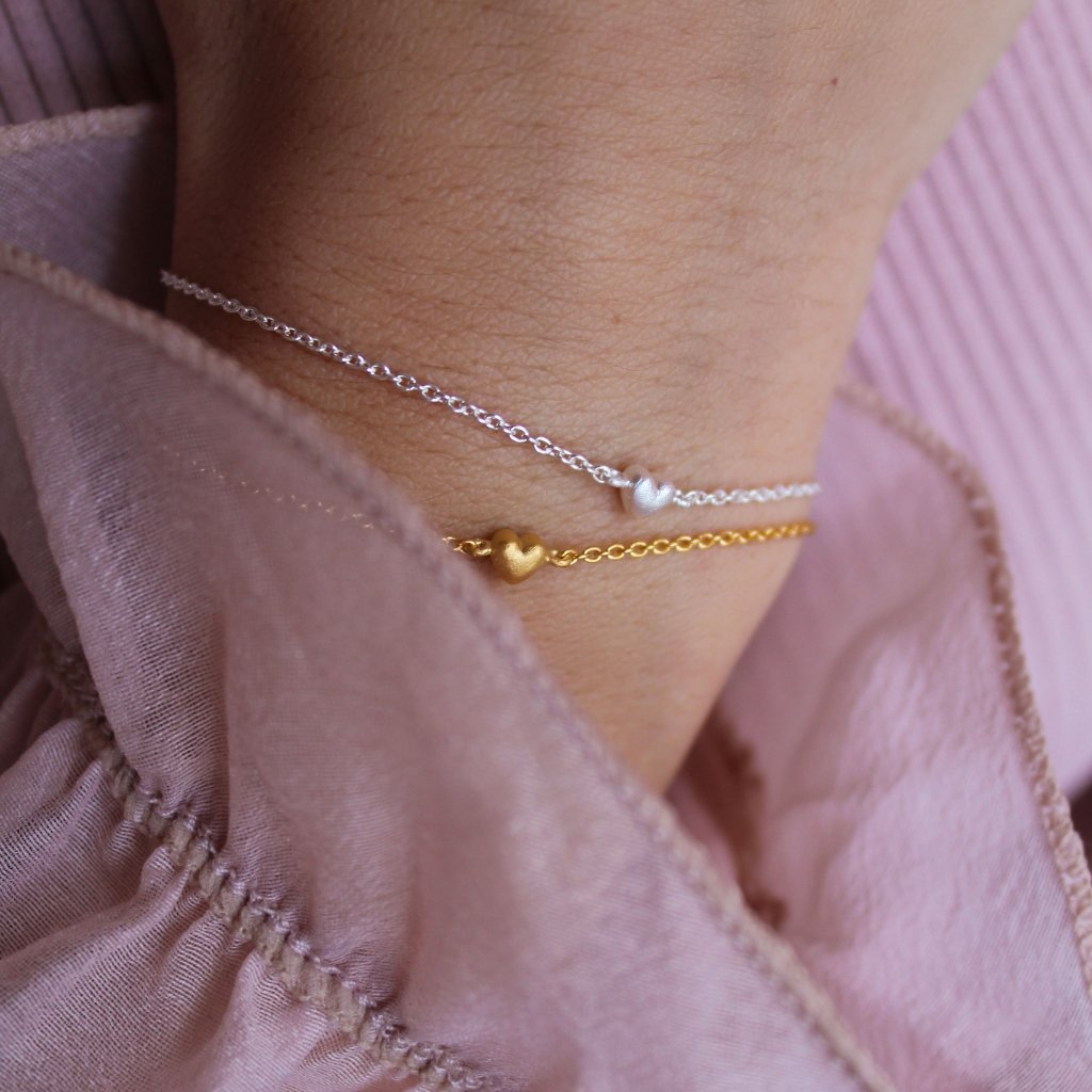 "18K Gold Plated Silver Bracelet ""Little Love"""