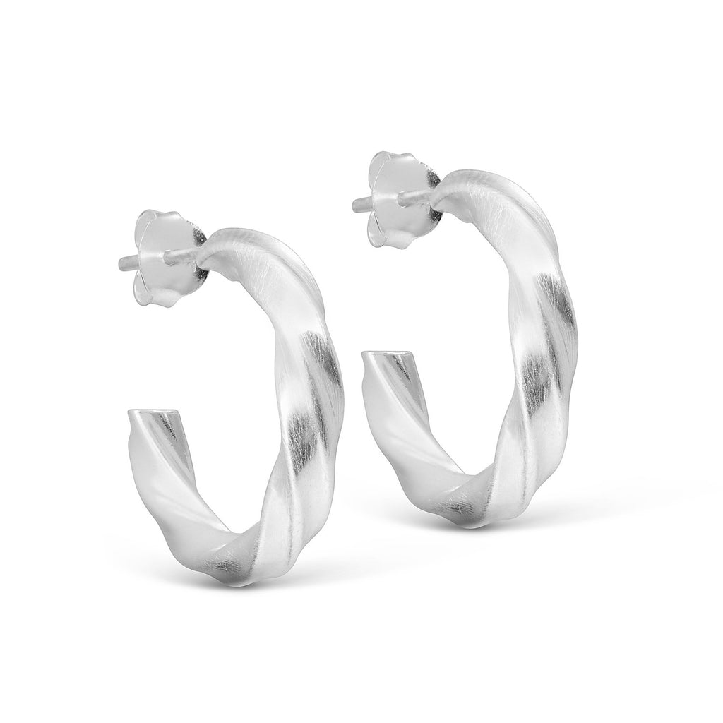 "Silver Hoop Earrings ""Vina"""
