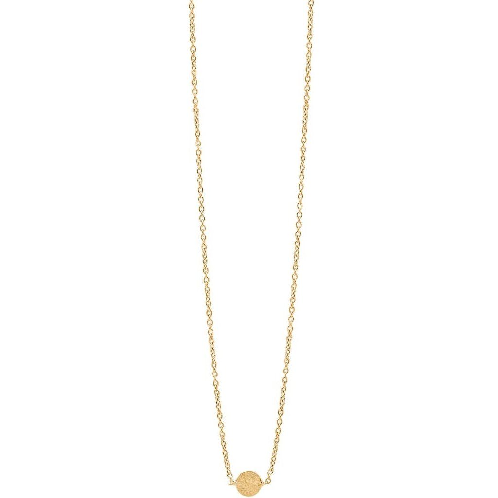 Gold Plated Necklace 'Coin'