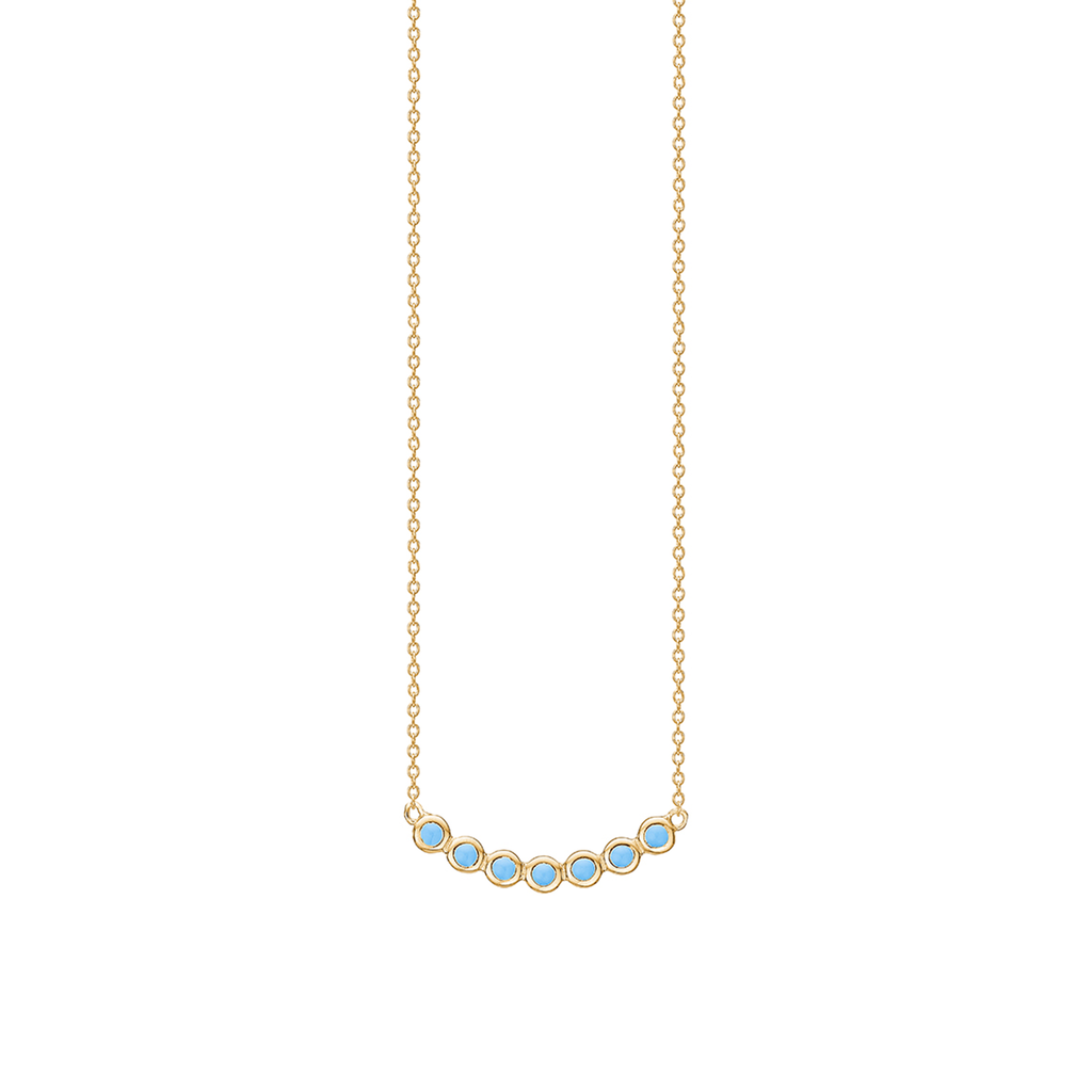 "Gold Plated Silver Necklace ""Blue Sky String"""