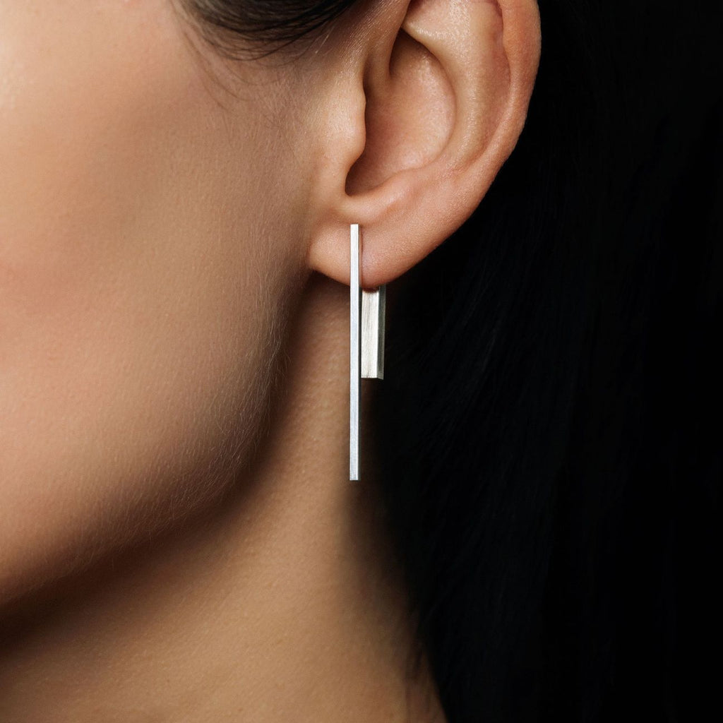 Fore Silver Double Sided Earrings