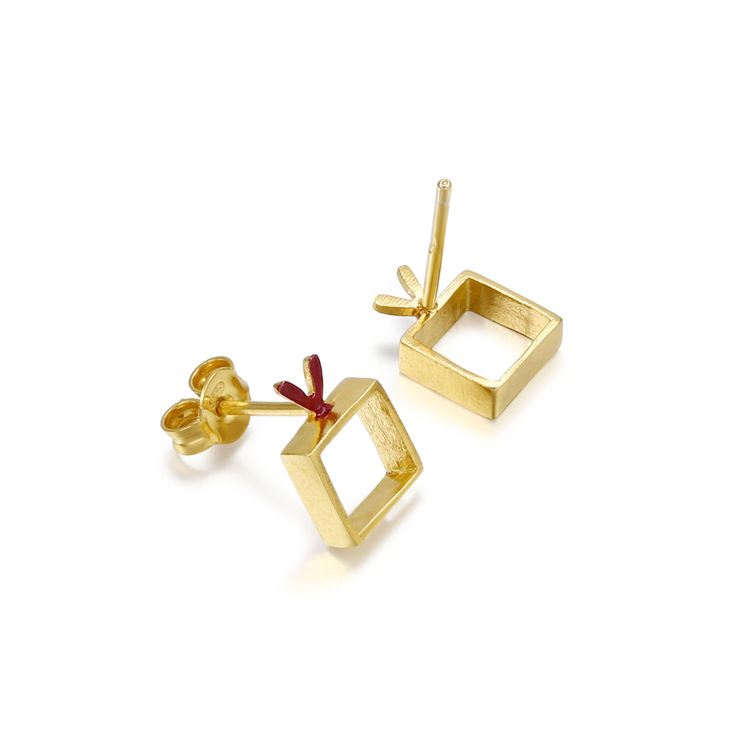 "Earrings ""Heart&Cube"""