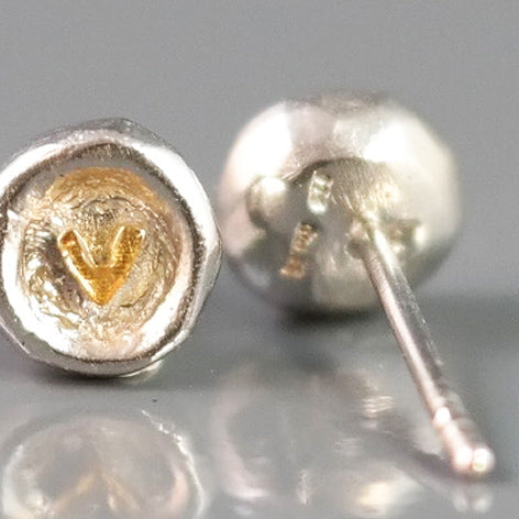 Silver Studs With Heart