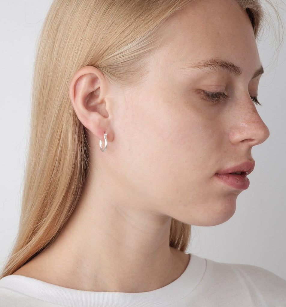 Silver Small Round Hoops