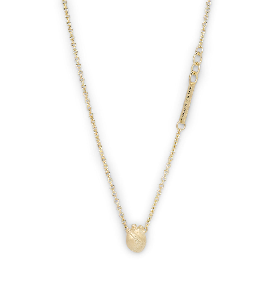 Small Gold Anatomic Heart necklace