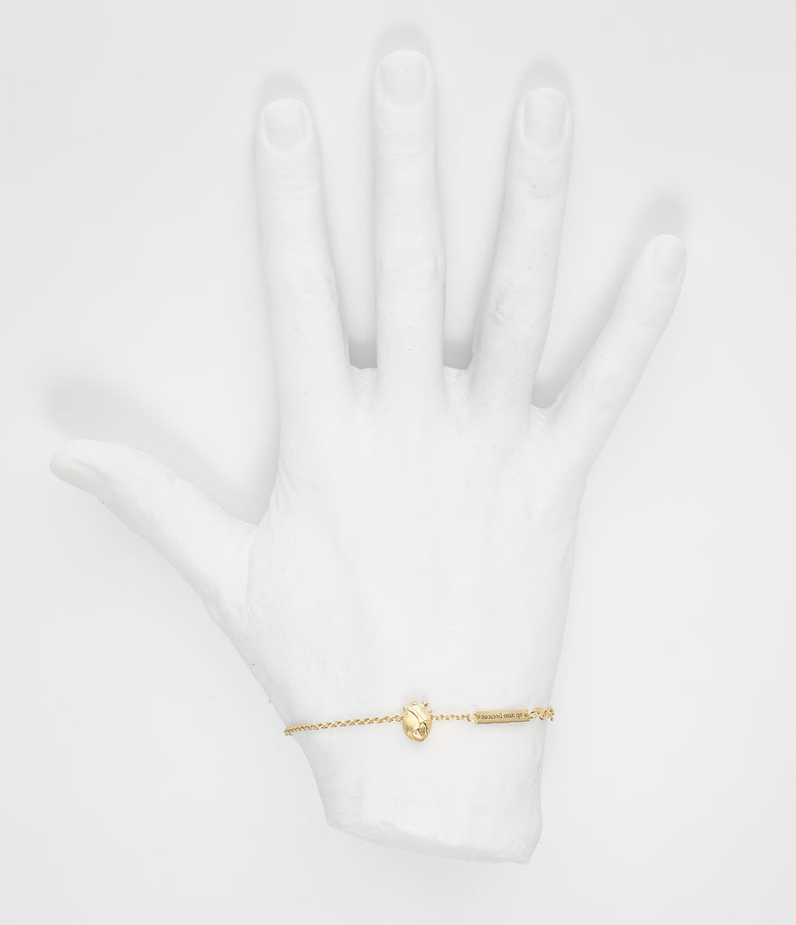 Small Gold Anatomic Heart Bracelet