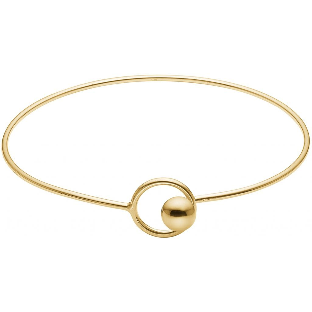 "Bangles & Bracelets - Silver Bracelet ""Gold Lock Bangle"""