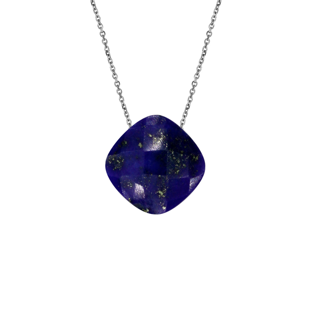 Lazurite Pendant with Silver Chain