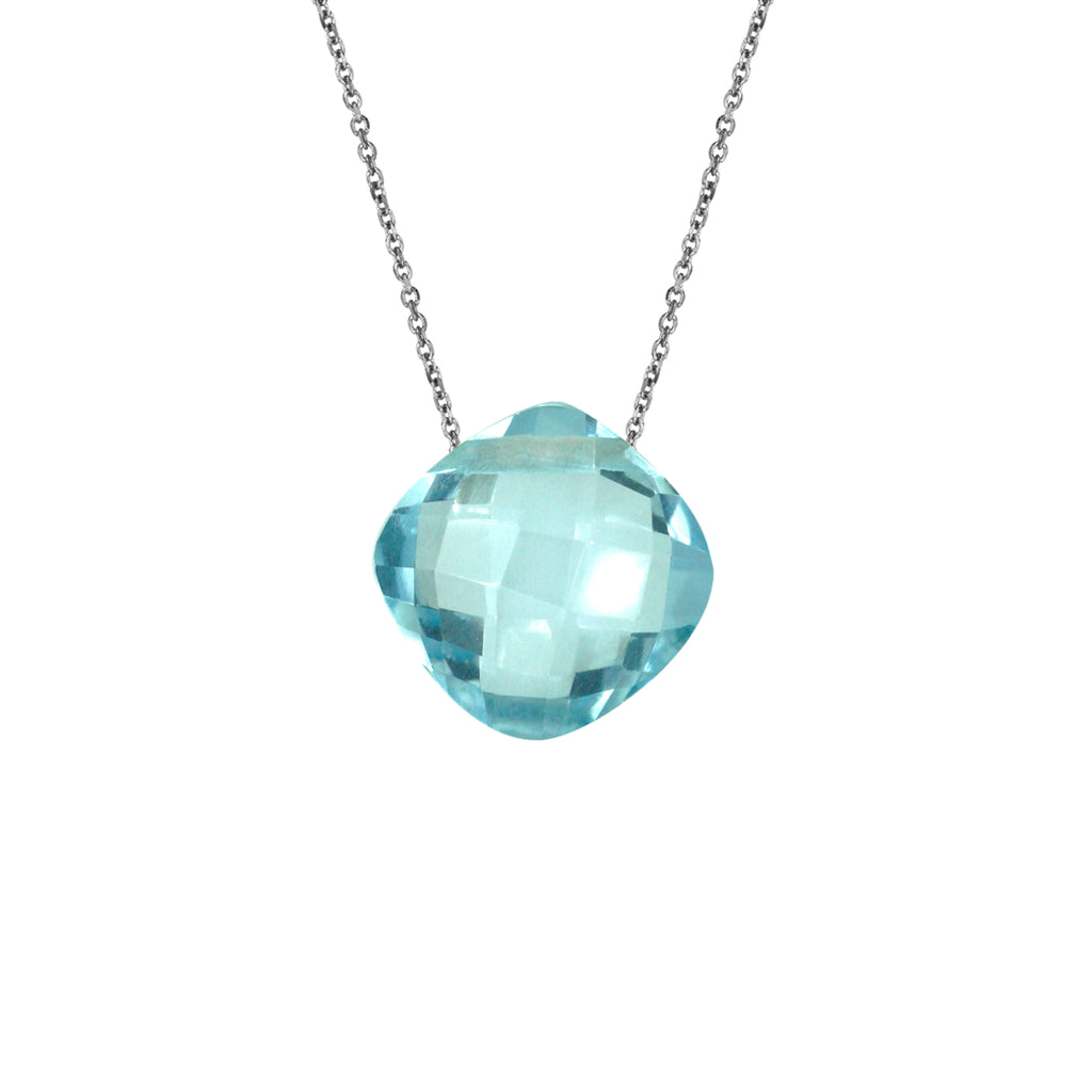 Topaz Pendant with Silver Chain