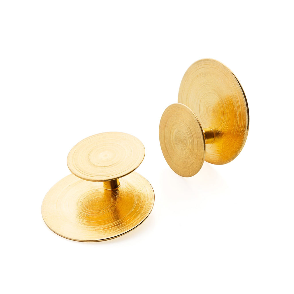 Earrings - Double Sided Gold ORBIT Earrings