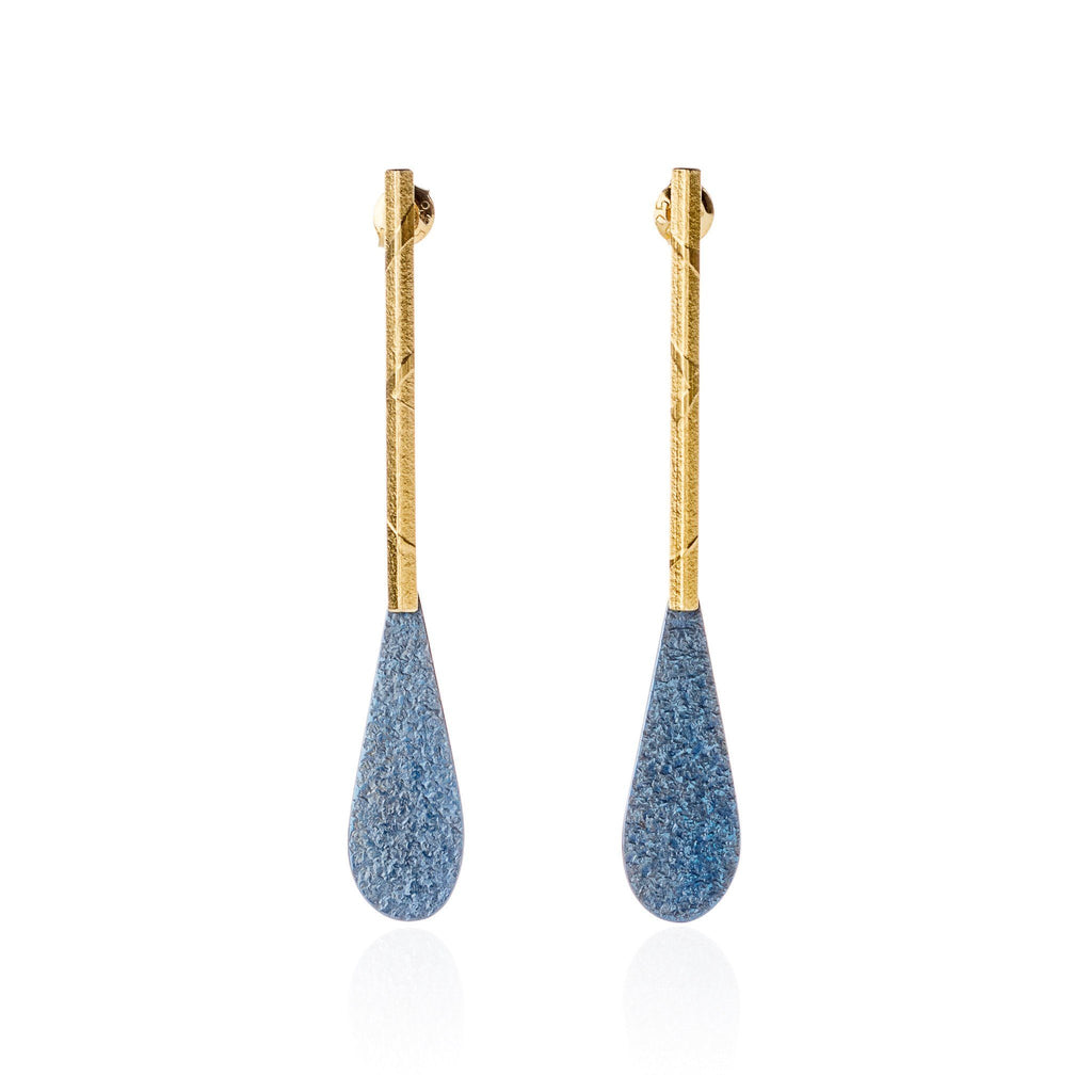 "Earrings - Earrings ""Blue Drop"""
