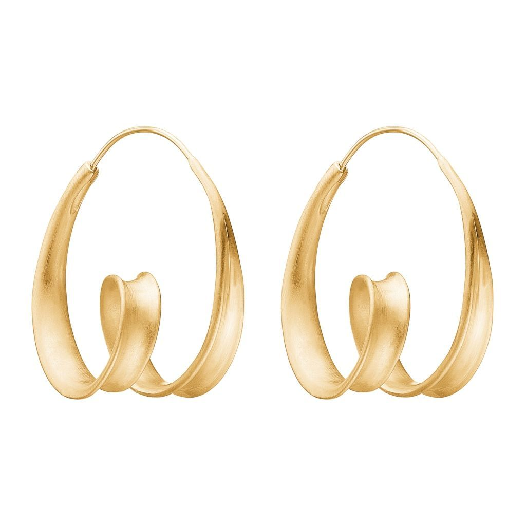 "Earrings - Gold Plated Silver Earrings ""Twirle"""