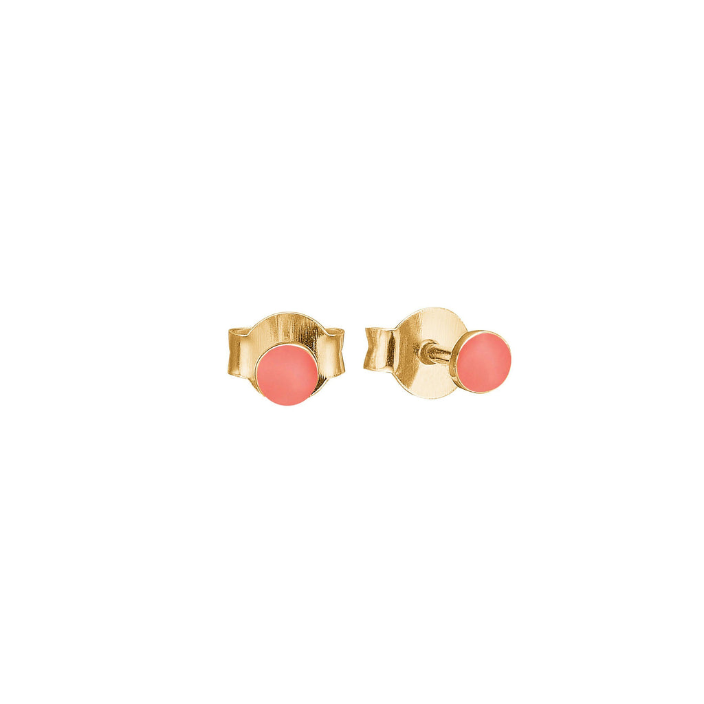 "Earrings - Gold Plated Silver Studs ""Petit Flamingo"""