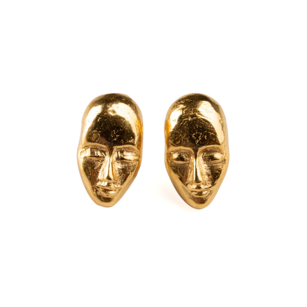 "Earrings - Gold Studs ""Dreamers"""