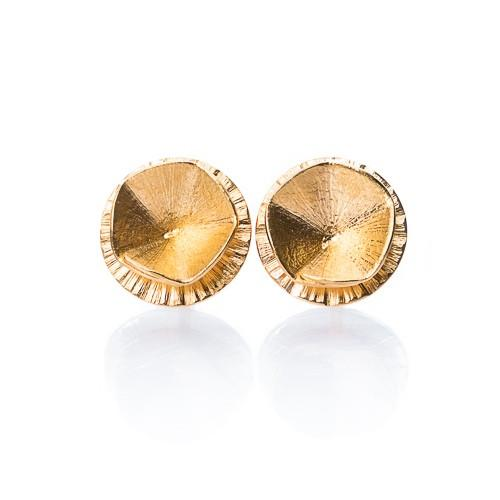 "Earrings - Gold Studs ""Shape 1"""