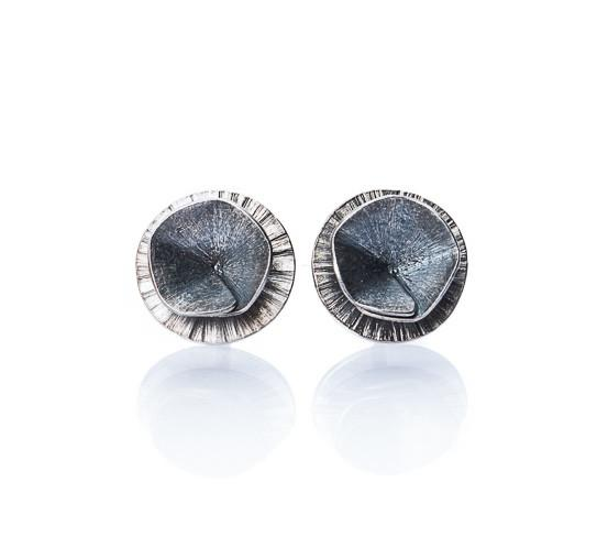"Earrings - Oxidised Studs ""Shape 1"""