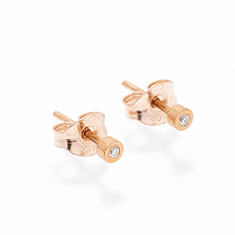 Earrings - Petit Diamond Gold Stud Earrings