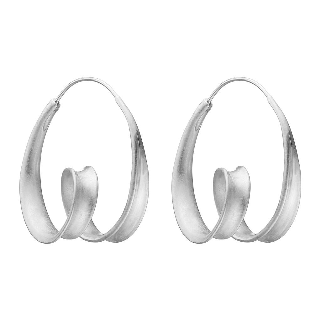 "Earrings - Silver Earrings ""Twirl"""