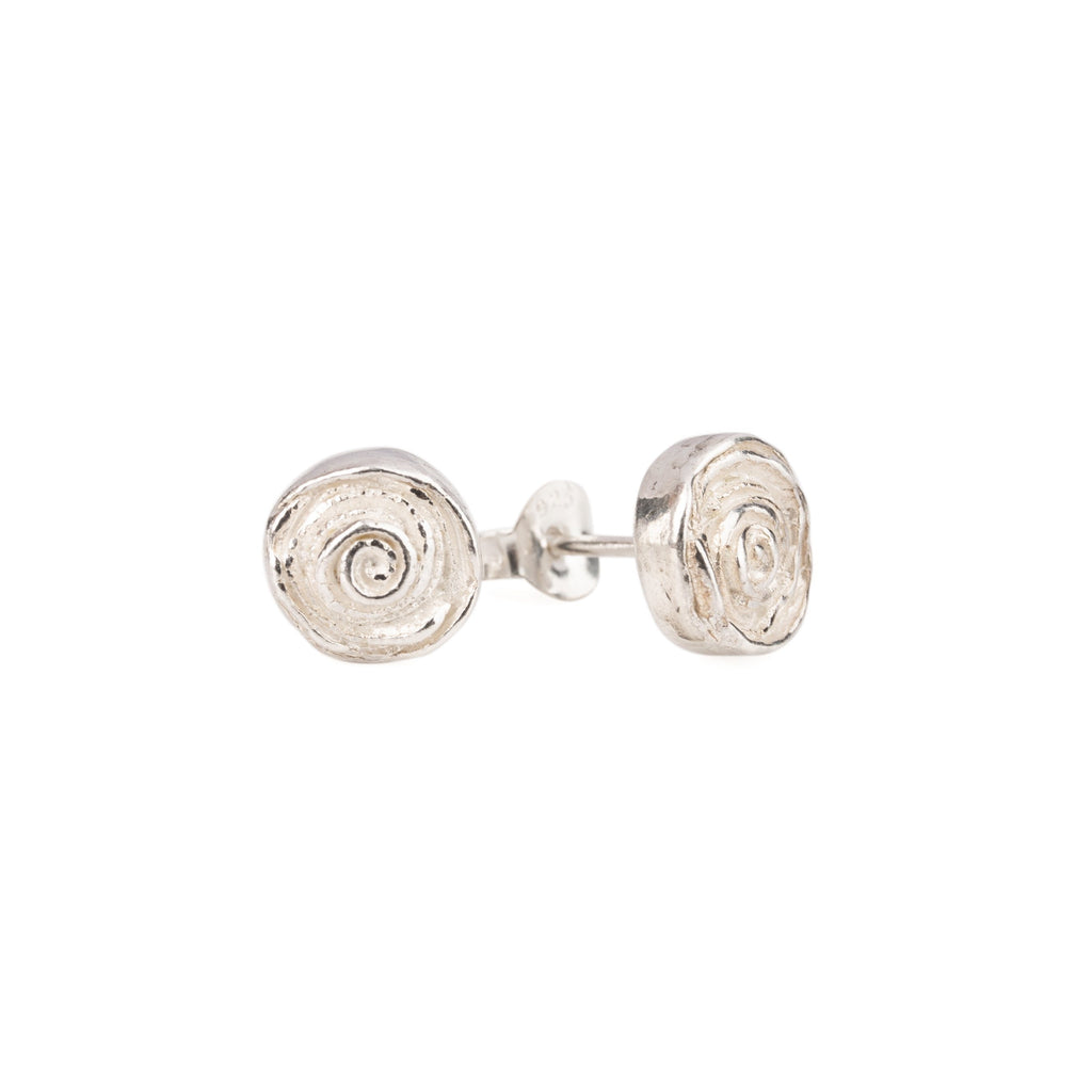 "Earrings - Silver Studs ""Rose"""