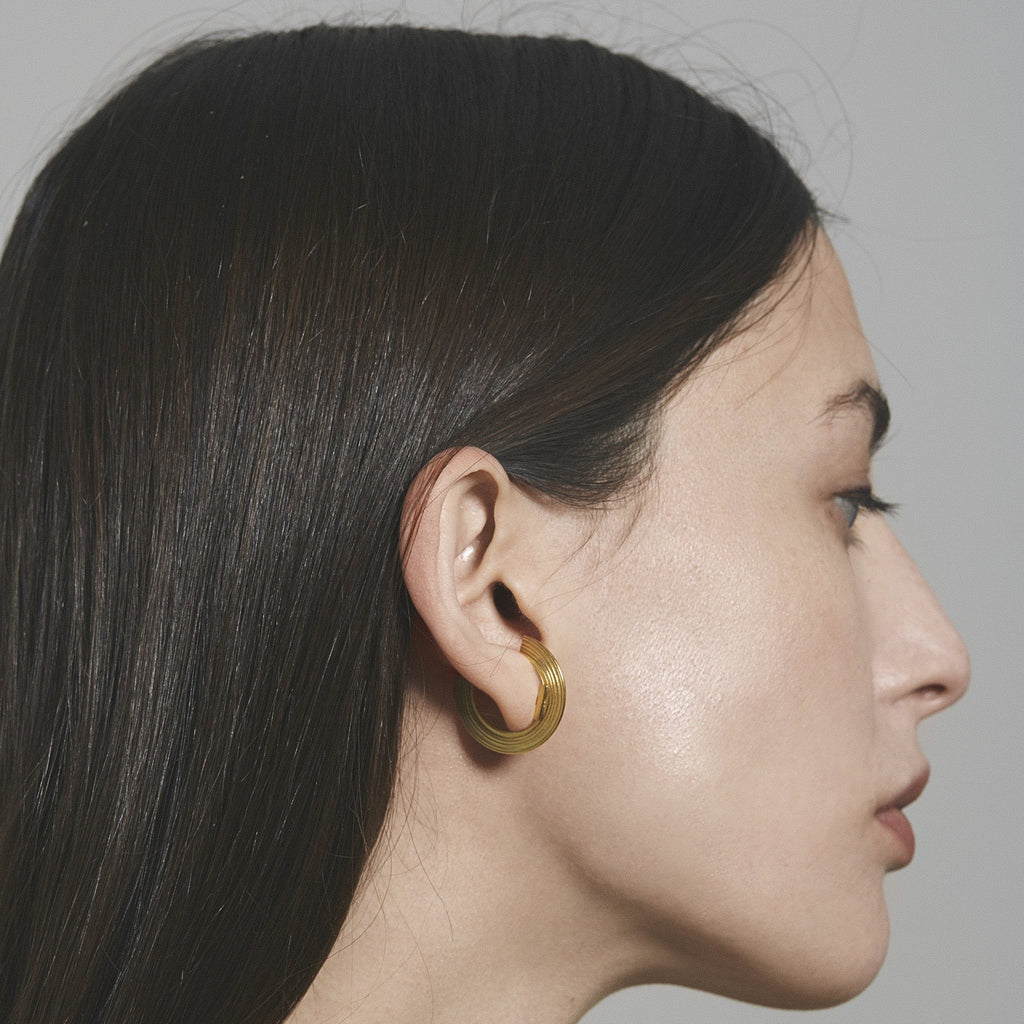 "Earrings - Small Lobe Cuff Earrings ""ORBIT"""