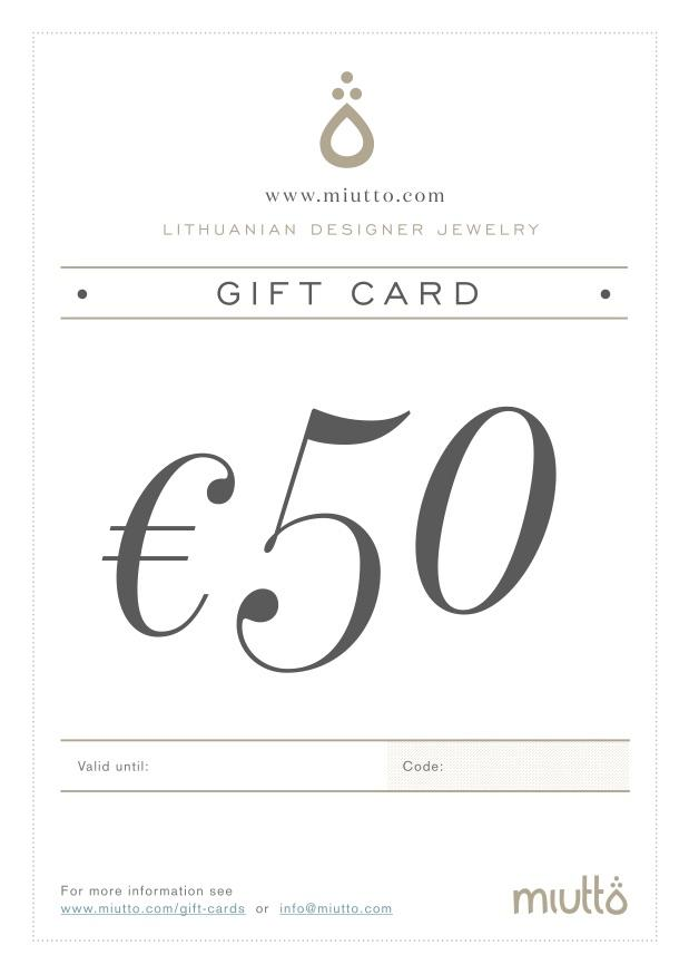 Miutto Gift Card