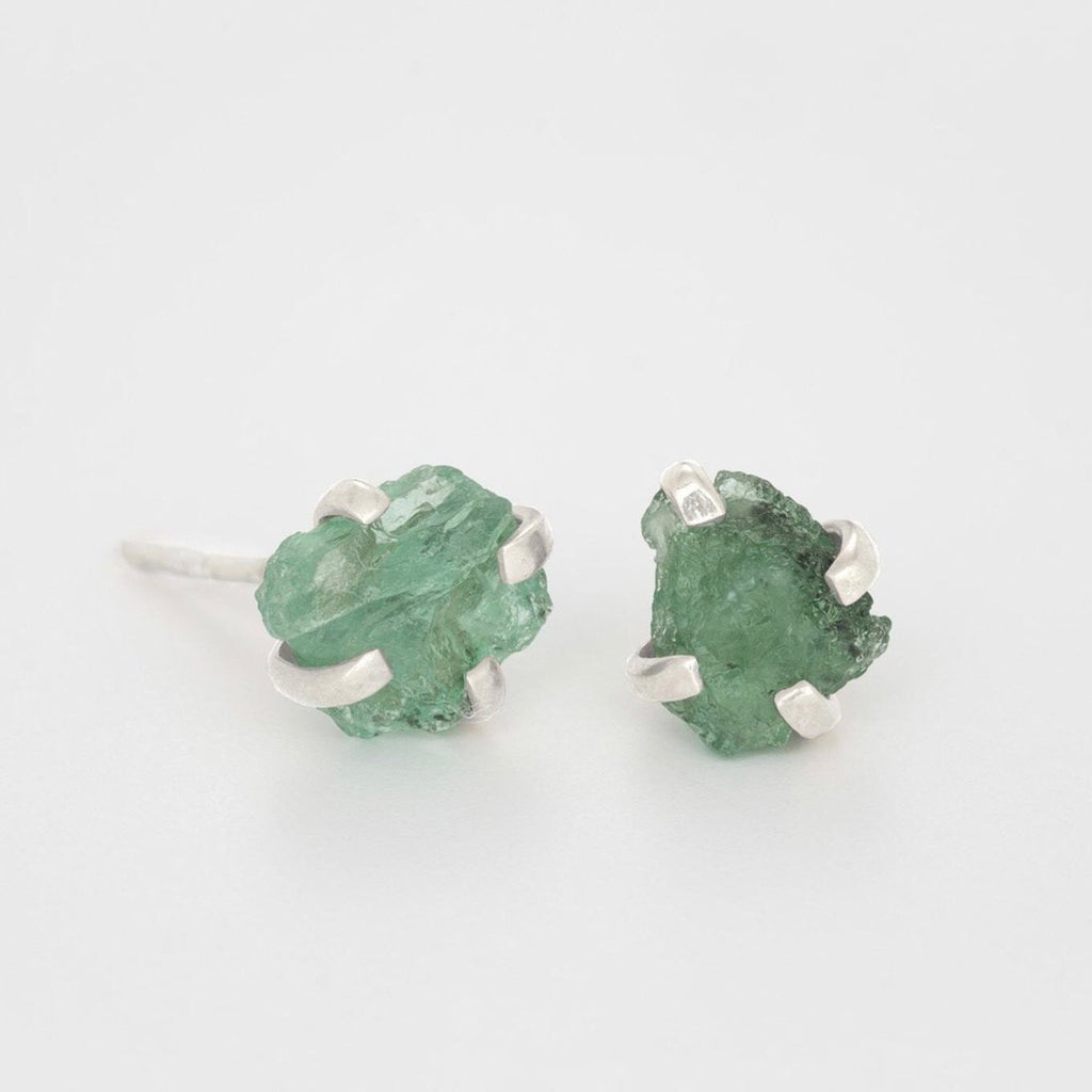 Forest of Lanterns Studs with Rough Emeralds
