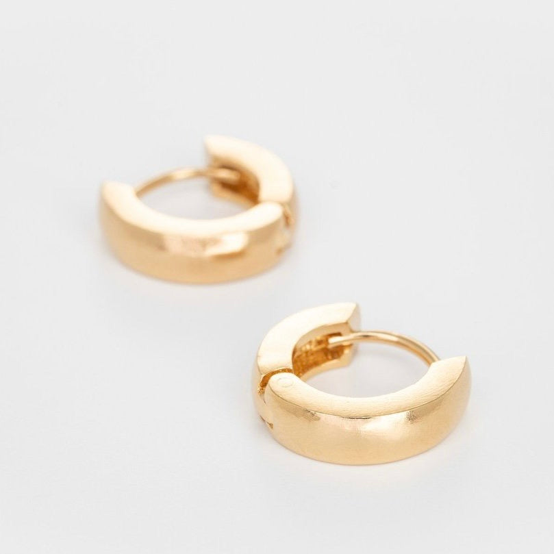 Silver Gold Plated Tiny Chunky Hoops