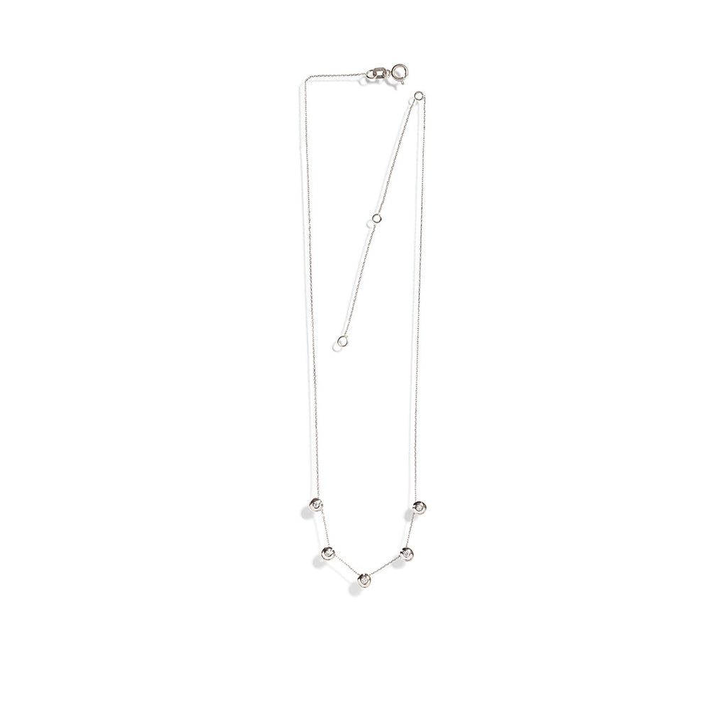 Necklaces & Pendants - Five Diamond White Gold Choker