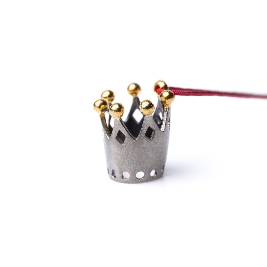 "Necklaces & Pendants - Silver Pendant ""Dark Crown"""