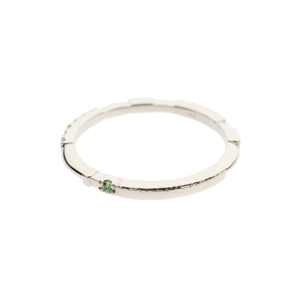 Rings - 14k White Gold Ring With Tsavorite