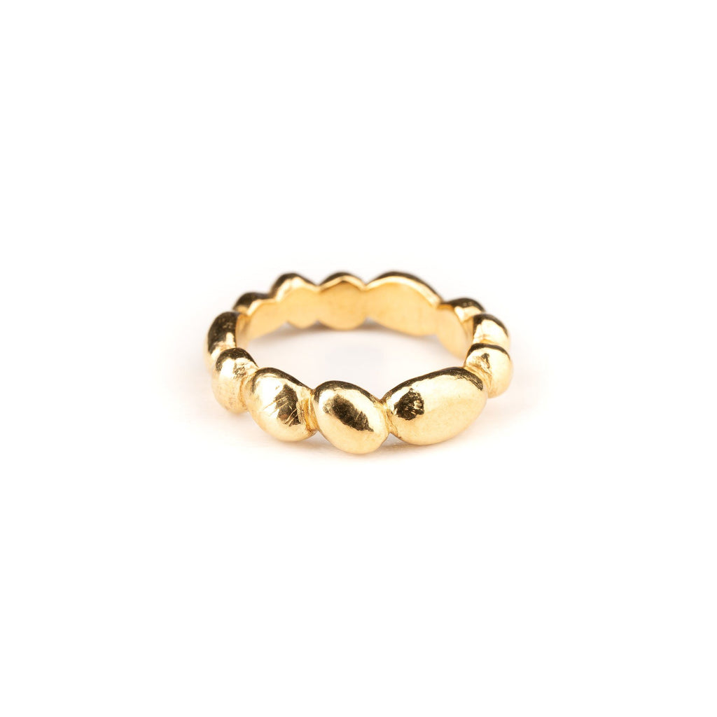 "Rings - Gold-plated Silver Ring ""Pebbles"""