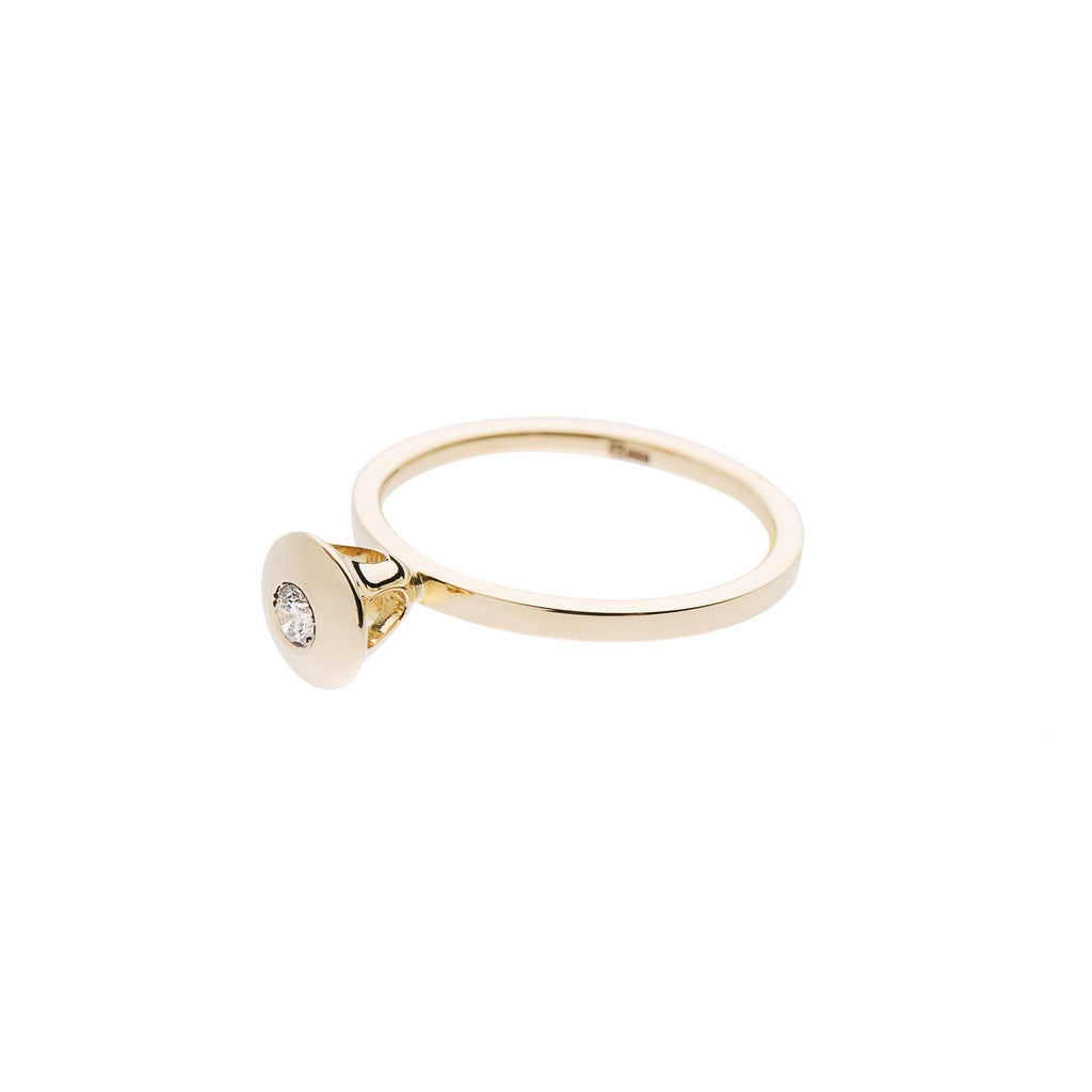 Rings - Gold Ring With Diamond