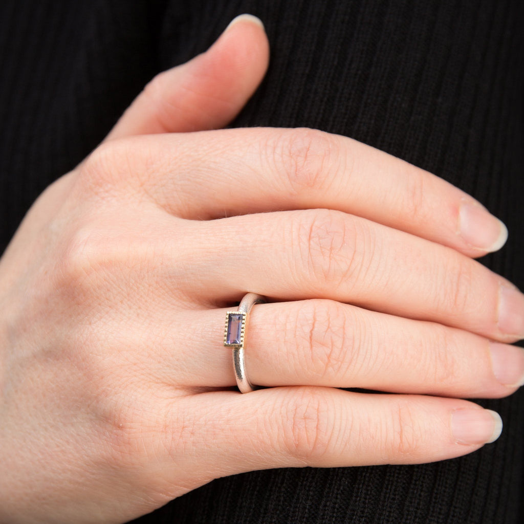 Rings - Silver Gold Iolite Ring