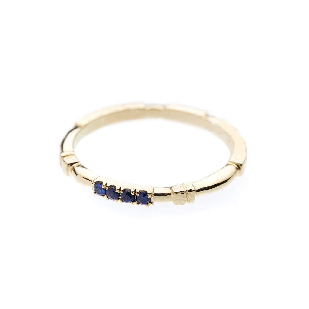 Rings - Yellow Gold Sapphires & Diamonds Ring