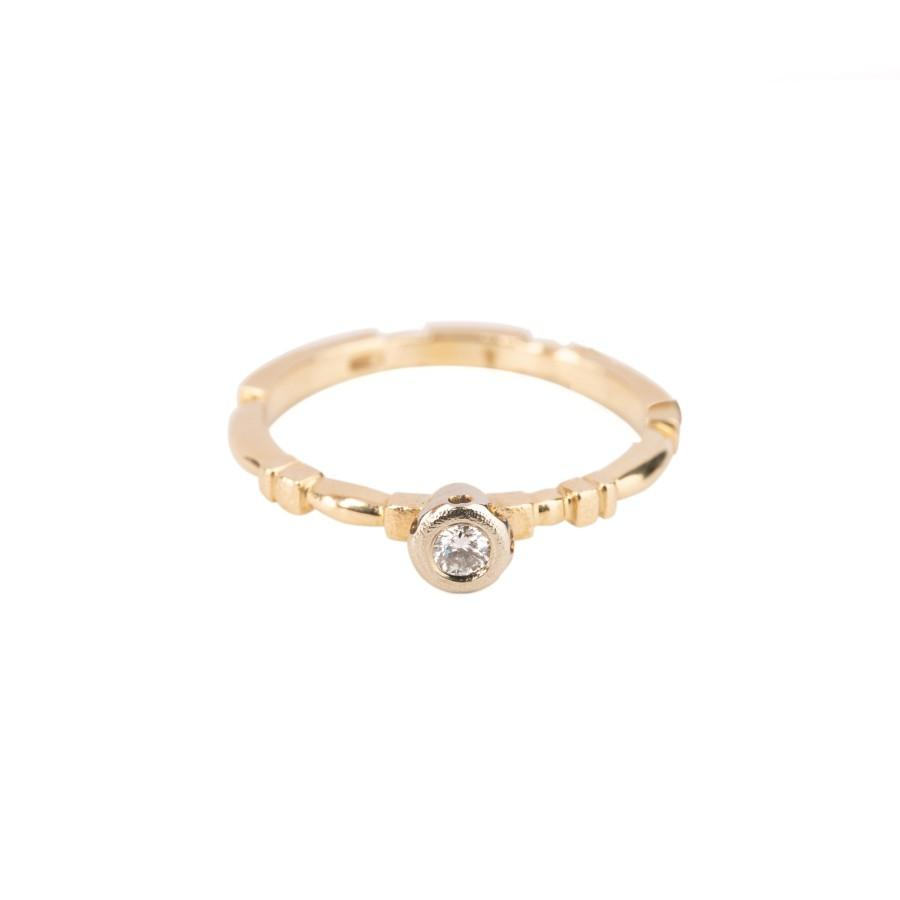 "Rings - Yellow Gold ""Sundrop"" Diamond Ring"