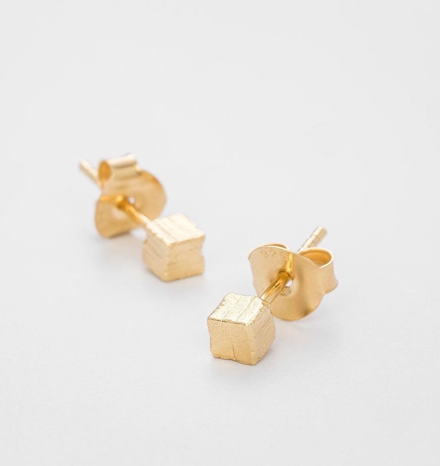 The Small Hours Gold Plated Studs