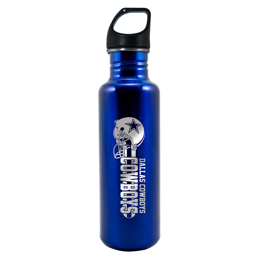 $31.99 + $6.55 shipping - NFL Dallas Cowboys 26 oz Lasered Blue Stainless Steel Water Bottle