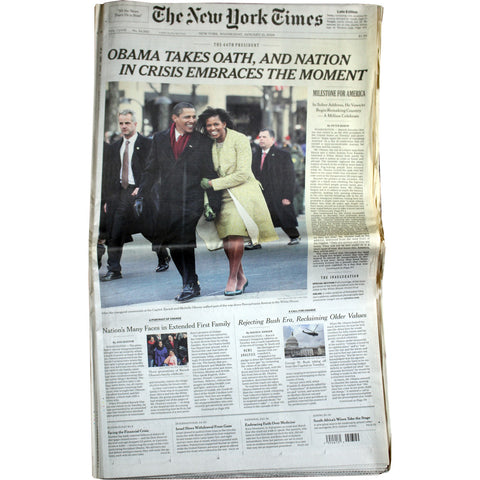 President Barack Obama's 2009 Inauguration  New York Times