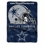 Dallas Cowboys Blanket 60x80 Raschel Prestige Design