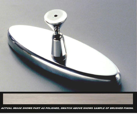 All Sales 6 Inch Oval Mirror Plain- Brushed