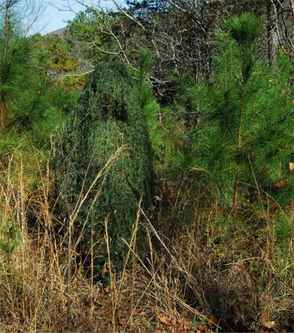 Ghillie Paintball Ultra Light Synthetic Poncho Leafy Green