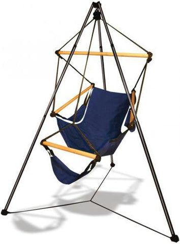 Hammaka Blue Cradle Chair Tripod Combo