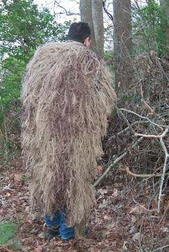 Ghillie Back Pack Cover 3x4