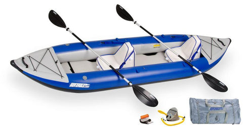 Sea Eagle 380X Deluxe Kayak Package Includes Seats Paddles and Pump