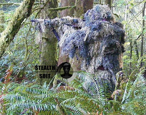 Paintball Sniper 4-Piece Woodland Ghillie Suit - XL