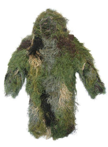 Ultra-Light Long Ghillie Jacket Medium-Large Woodland