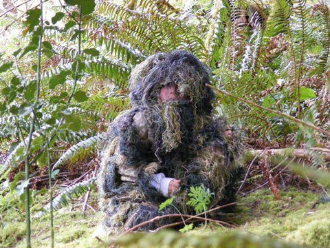 Kids Paintball Sniper 4-Piece Woodland Ghillie Suit - Med
