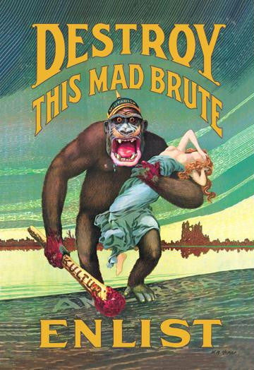 Destroy this Mad Brute - Enlist 20x30 on Canvas